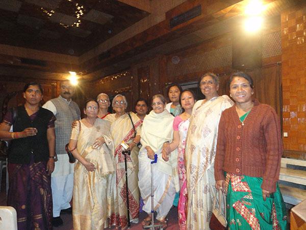 राष्ट्र स्वयंसेवक संघ उत्तर असम प्रान्त के माः प्रान्त प्रचारक के साथ